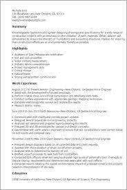 Sample Resume For Engineering by Download Geotechnical Engineer Sample Resume