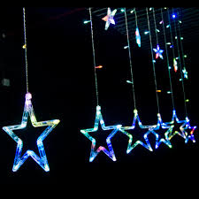 Halloween Window Lights Wholesale Stars Led Curtain Fairy String Lights Window Curtain