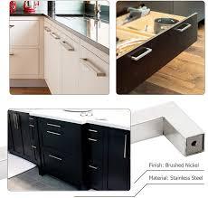 modern stainless steel kitchen cabinet pulls 10 pack homdiy kitchen cabinet handles modern drawer pulls