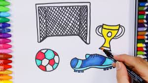 how to draw and color soccer shoe drawing coloring soccer