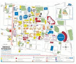 Tennessee Tech Campus Map by Image Gallery Mtsu Map 2015