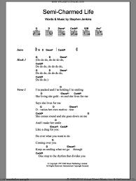 Blind Chords Blind Semi Charmed Life Sheet Music For Guitar Chords