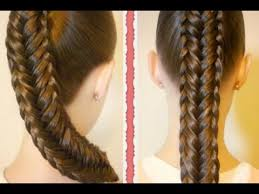 step by step hairstyles for long hair with bangs and curls cute easy fishtail braid hairstyle step by step tutorial youtube