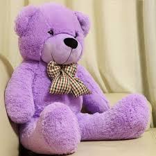 big teddy purple teddy soft velour exterior polyester cotton inside