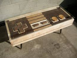 Coffee Table Cover This Is A Coffee Table And A Functional Nintendo Controller