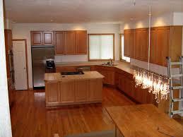 kitchens with light oak cabinets dark wood floors light oak cabinets hardwood cabin remodeling