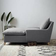 down filled sectional sofa bliss down filled chaise west elm