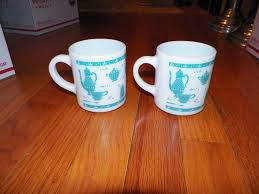 vintage 60s anchor hocking anchorware coffee cups mugs set of 4