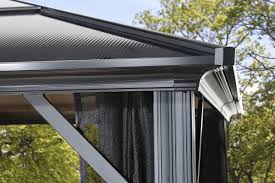Gazebos With Hard Tops by Sojag Meridien 12 Ft W X 10 Ft D Aluminum Permanent Gazebo