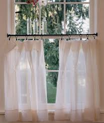 Half Window Curtains Thinking Of Doing A Half Tiered Curtain In Living Room Like The