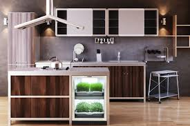 Stainless Steel Kitchen Backsplash by Kitchen Indoor Kitchen Grill With Urban Cultivator Design Also