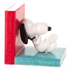 Book End Peanuts Happiness Is U2026 Ceramic Bookend Desk Accessories Hallmark