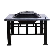 fire pit grill table combo outsunny 32 outdoor fire pit cooking grill combo black walmart com