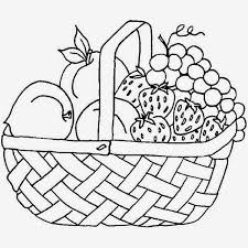 sumptuous printable coloring pages of fruit baskets coloring pages