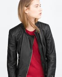 all size zara real leather biker jacket with zips padded