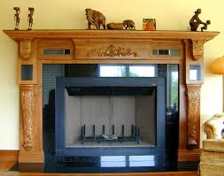 Mantel Shelf Woodworking Plans by Fireplace Mantel And Carved Wood Fireplace Mantel