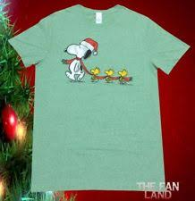snoopy christmas shirts peanuts solid regular size l snoopy t shirts for men ebay