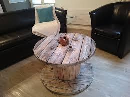 Wohnzimmertisch Holz Selber Bauen Kabeltrommel Tisch Runder Couchtisch Aus Holz