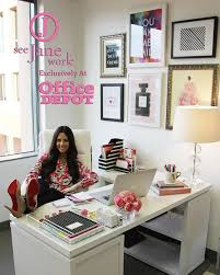 Work Office Decor | the sorority secrets workspace chic with office depot see jane work