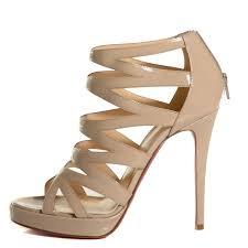 christian louboutin patent calfskin fernando 120 sandals 40