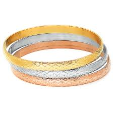 color bangle bracelet images Set of 3 slip on bangle bracelets jpg