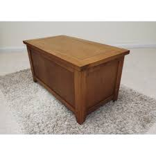 oak classic blanket box ottoman storage box