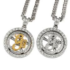 aliexpress buy nyuk mens 39 hip hop jewelry iced out nyuk necklaces mens jewelry iced out whirligig g unit necklace