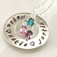 s day necklace with children s names personalized sted necklaces by dlnexpressionjewelry