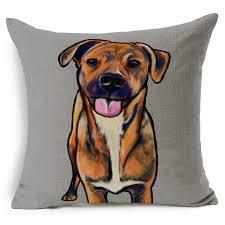pug home decor nordic bull terrier pug dog emoji throw pillow animal home decor