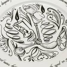 guest plate walt disney world beauty and the beast be our guest dinner plate