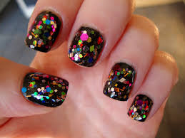baby doll design bright glitter nail polish beauty life
