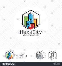 Abstract City Building Logo Design Concept Stock Vector - Apartment design concept