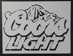 coors light mountains beer custom stencil fast free shipping