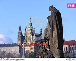 s pragu prague s st vitus cathedral and charles bridge free stock