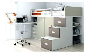 lit surélevé avec bureau lit mezzanine ado avec bureau et rangement cool lit mezzanine
