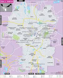 Blank Map Of Singapore by Kuala Lumpur Map Map Of Kuala Lumpur City Malaysia