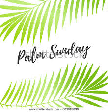 palm leaves for palm sunday palm sunday card poster palm stock vector 603918899