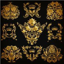 luxury floral ornaments golden vectors free vector in encapsulated