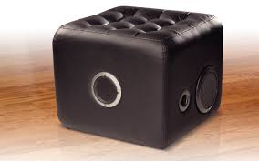 Lounge Ottoman Sound Lounge Plush Ottoman With Built In Speakers Ion Audio