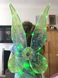 light up fairy wings disney store brand new adjustable light up glow in the dark