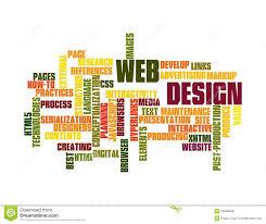 word design web design word cloud royalty free stock photos image 23366928
