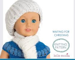 doll hat scarf pattern doll clothes knitting pattern