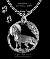 wolf necklace pendant images Moon shadow howling wolf necklace diamond cut wolves eagle feather jpg