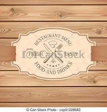 vector of vintage restaurant menu board template vintage