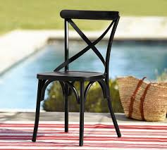 Ornate Metal Folding Bistro Chair X Back Bistro Chair Pottery Barn
