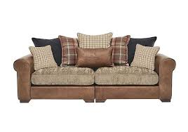 Highland  Seater Scatter Back Leather Sofa Furniture Village - 4 seat leather sofa
