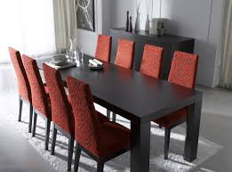 Red Parsons Chairs Piece Dining Room Set For Square Table With Leaf And Regard To