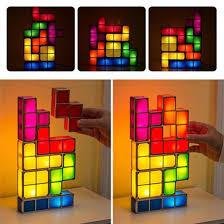Diy Led Desk Lamp Diy Tetris Puzzle Light Stackable Led Desk Lamp U2013 Gifts And Gadgets