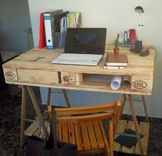 bureau palette bois bureau en bois 34 idées diy très cool en palette europe lofts