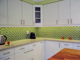 impressive green kitchen backsplash with lighting fixtures 8404